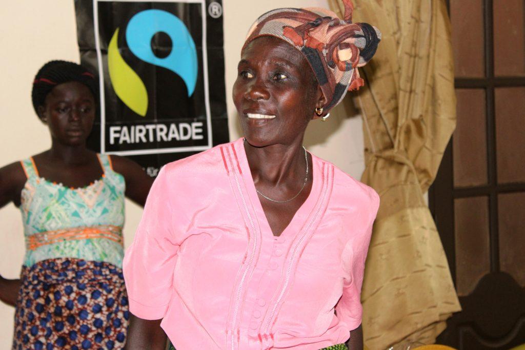 Una delle partecipanti alla Scuola di leadership femminile di Fairtrade Africa