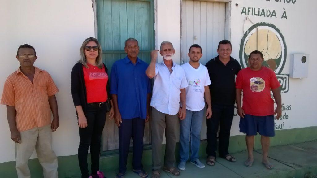 Il direttivo della cooperativa di produttori di anacardi Cocajupi.