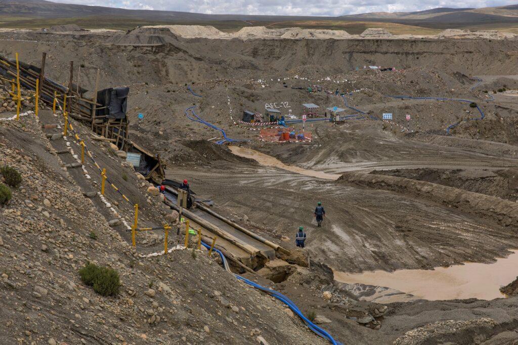 Area di estrazione della cooperativa Limata.