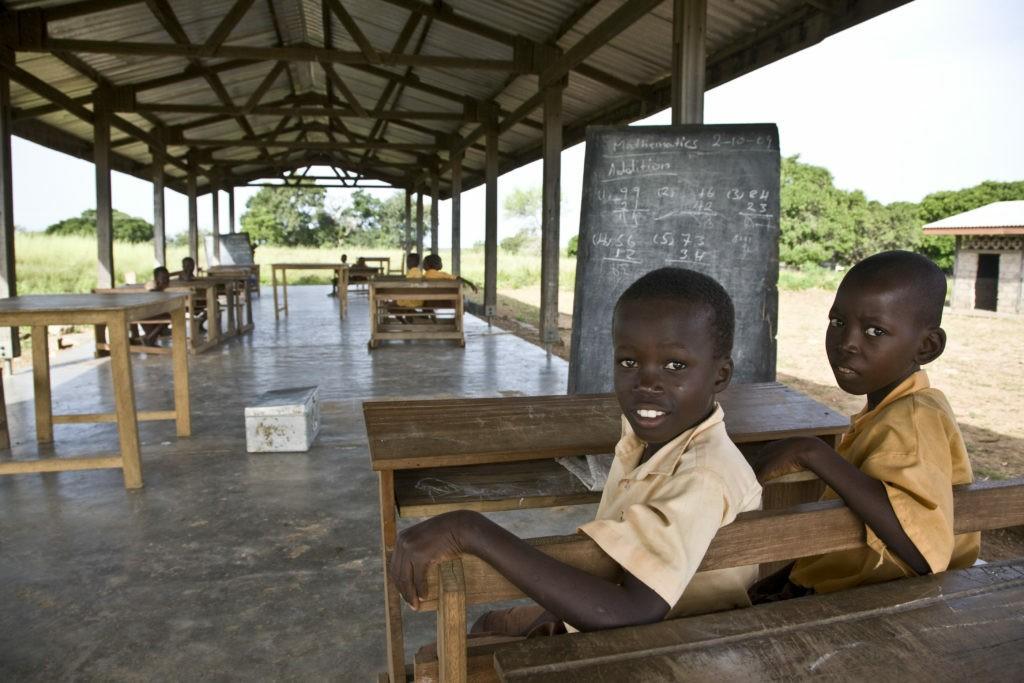 Una delle scuole costruite grazie al Premio Fairtrade