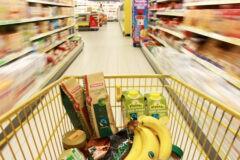 carrello in un supermercato