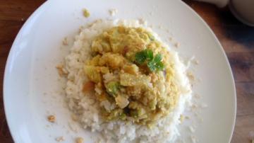 Cavolfiore al curry con riso