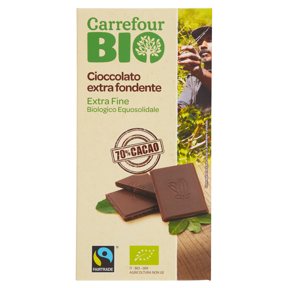 cioccolato fairtrade extra fondente