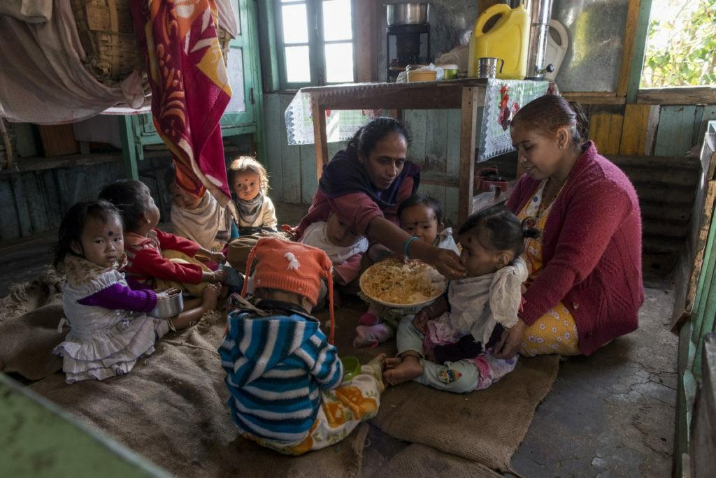 nursery per i bambini delle coltivatrici di tè