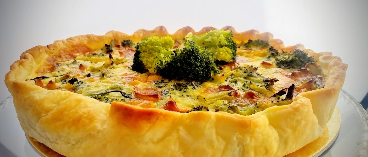 Quiche ai broccoli e salsiccia