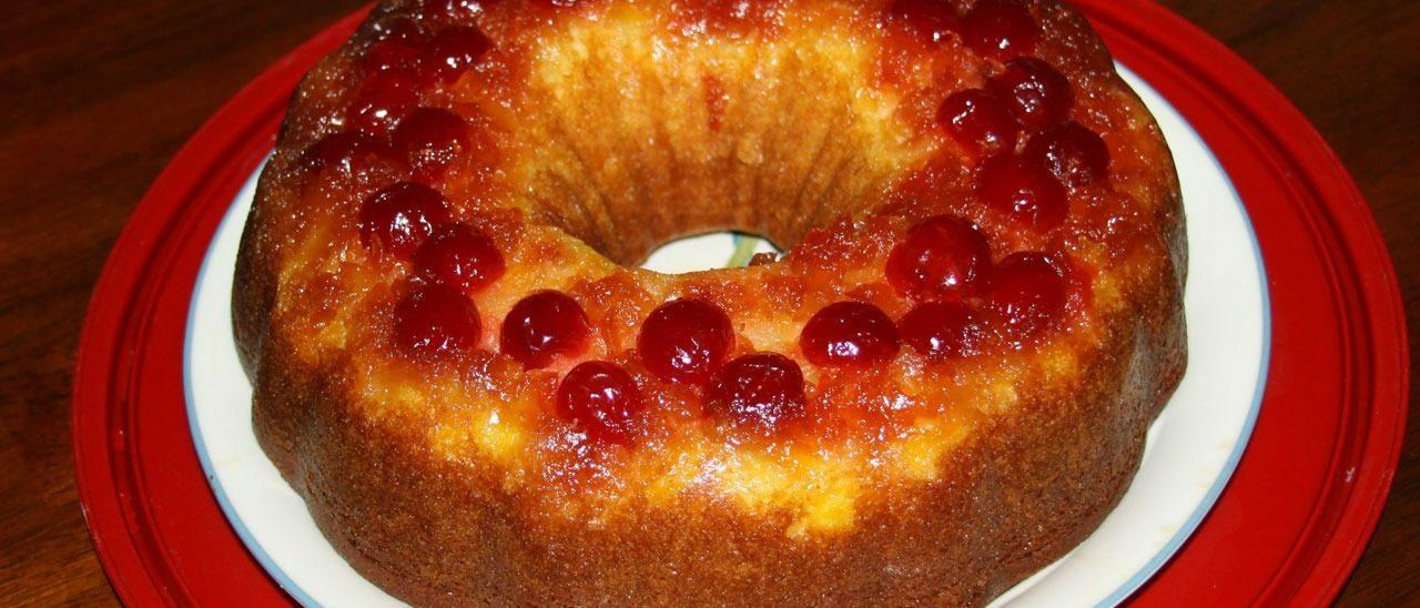 Torta rovesciata con Ananas caramellato