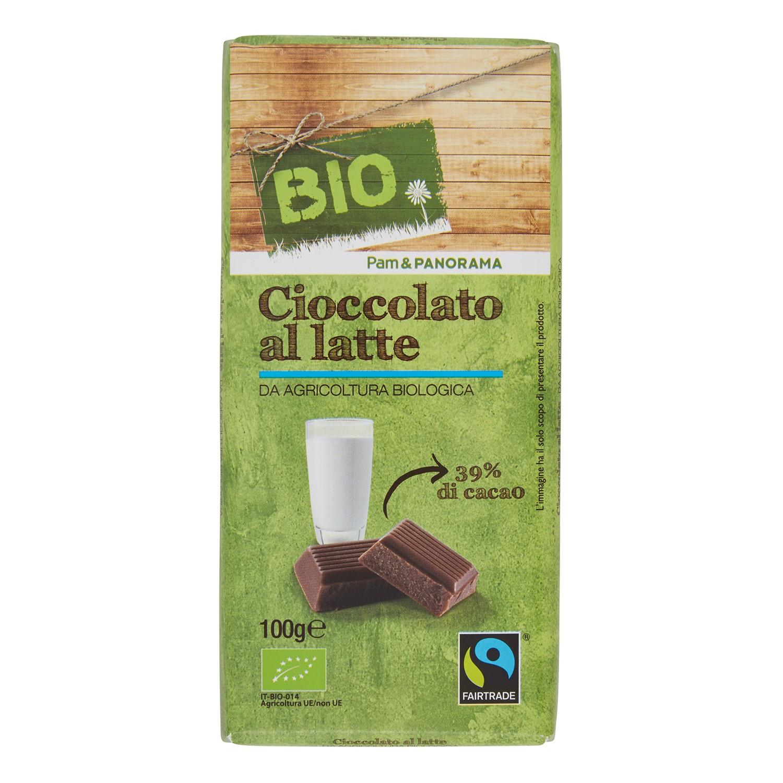 Cioccolato al latte e fondente biologico