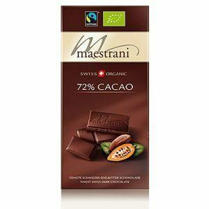 cioccolato amaro svizzero fondente 72%