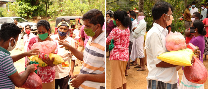 Distribuzione di cibo e beni di prima necessità a chi vive in zone remote.