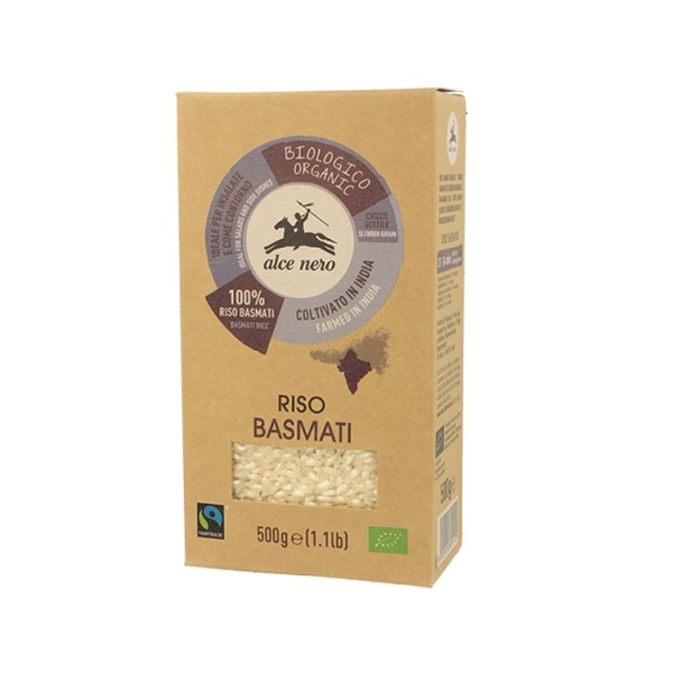 riso basmati Fairtrade Alce Nero